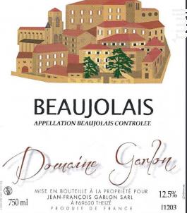 Beaujolais - Domaine Garlon - 2014 - Blanc