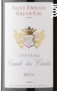 CHÂTEAU COMTE DES CORDES - CHÂTEAU COMTE DES CORDES - 2009 - Rouge