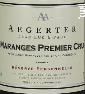Maranges 1er Cru Clos des Rois - Jean Luc et Paul Aegerter - 2017 - Rouge