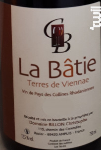 La Batie - Domaine Billon - 2016 - Rouge
