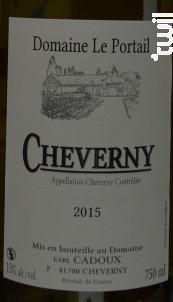 Cheverny - Domaine Le Portail - 2017 - Blanc