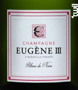 BLANC DE NOIRS BRUT - Champagne Eugène III - Non millésimé - Effervescent