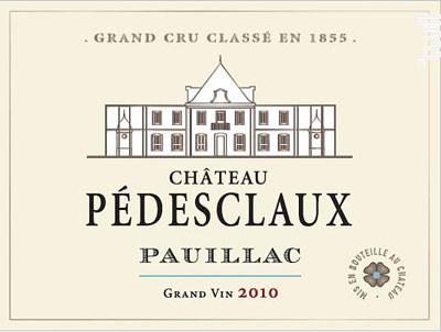 Château Pédesclaux - Château Pédesclaux - 2010 - Rouge