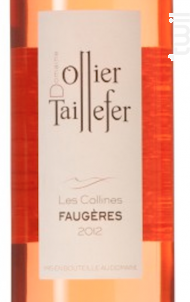 Les Collines Rosé AOP Faugères - DOMAINE OLLIER-TAILLEFER - 2017 - Rosé