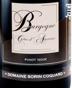 Bourgogne Côtes d'Auxerre - Domaine Sorin Coquard - 2018 - Rouge