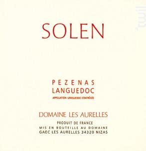 Solen - Domaine Les Aurelles - 2010 - Rouge