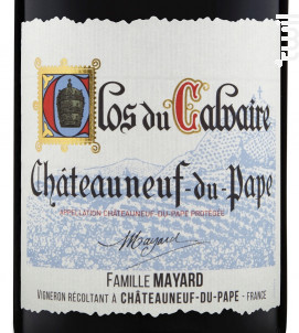Clos du Calvaire - Vignobles Mayard - 2017 - Rouge