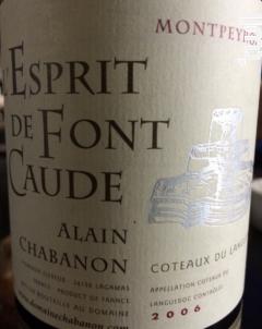 L'Esprit de Font Caude - Domaine Alain Chabanon - 2006 - Rouge