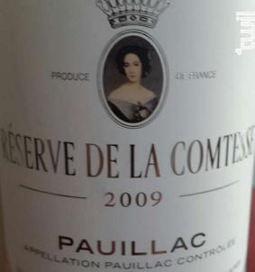 Réserve de la Comtesse - Château Pichon Longueville Comtesse de Lalande - 2009 - Rouge