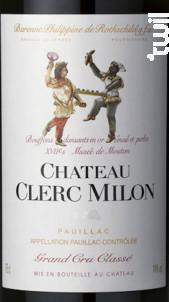 Château Clerc Milon - Château Clerc Milon - 2018 - Rouge