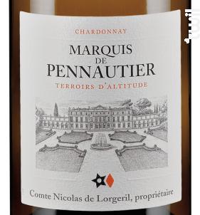 Marquis de Pennautier - Terroirs d'Altitude - Maison Lorgeril - 2015 - Blanc
