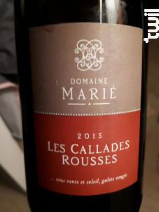 Callades Rousses - Domaine Marié - 2017 - Rouge