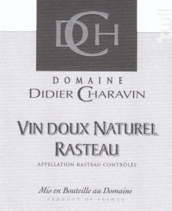 Rasteau Vin Doux Naturel - Domaine Didier Charavin - 2017 - Rouge