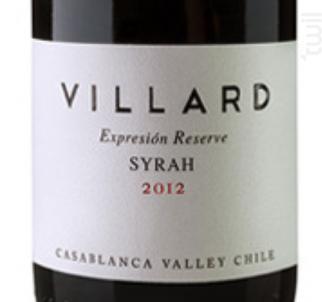 Expression Syrah - Villard Fine Wines - 2015 - Rouge