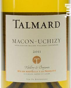 Mâcon-Uchizy - Cave Talmard - 2016 - Blanc
