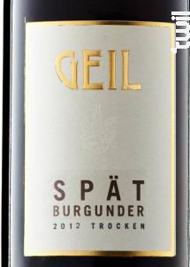 Geil Spatburgunder Trocken - GEIL - 2016 - Rouge