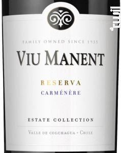 Estate collection reserva - carmenere - Viu Manent - 2019 - Rouge