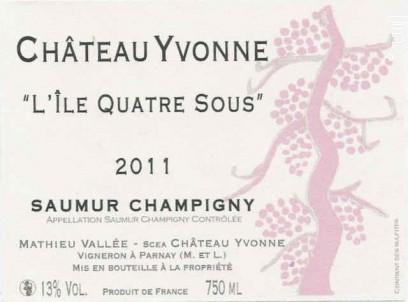 L'île quatre sous - Château Yvonne - 2018 - Rouge
