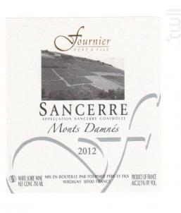Sancerre Monts Damnés - Terres Blanches - FOURNIER Père & Fils - 2014 - Blanc