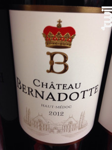 Château Bernadotte - Château Bernadotte - 2011 - Rouge