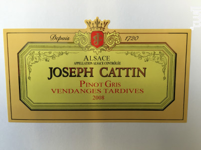 Pinot Gris Vendanges Tardives - Maison Joseph Cattin - 2015 - Blanc