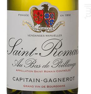 Saint Romain Au bas de Poillange - Maison Capitain-Gagnerot - 2018 - Blanc