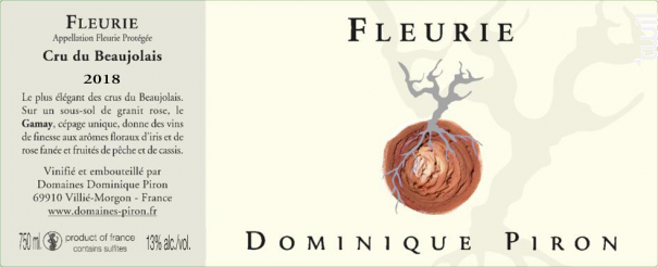 Fleurie - Dominique Piron - 2018 - Rouge