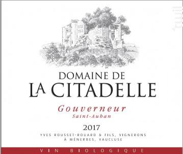 Gouverneur Saint-Auban - Domaine de la Citadelle - 2018 - Blanc
