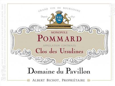 Pommard Clos des Ursulines Monopole - Domaine du Pavillon - Domaines Albert Bichot - 2017 - Rouge
