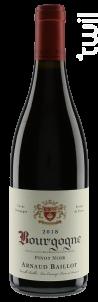Bourgogne  Pinot Noir - Domaine Arnaud Baillot - 2018 - Rouge