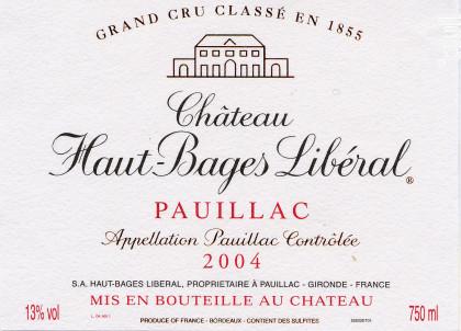 Château Haut-Bages Libéral - Château Haut-Bages Libéral - 2004 - Rouge