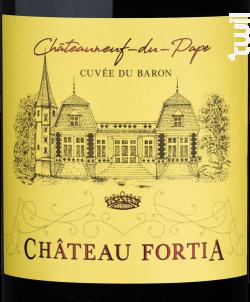 Cuvée du Baron - Château Fortia - 2017 - Rouge