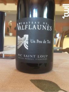 Un peu de toi - Chateau De Valflaunes - 2017 - Rouge