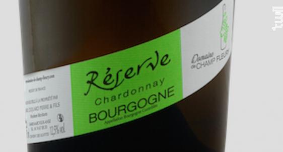 Bourgogne Chardonnay Réserve - Domaine de Champ-Fleury - 2017 - Blanc