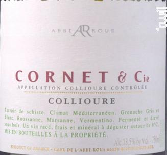 Cornet &Cie - Collioure Blanc - Cave Abbé Rous - 2017 - Blanc