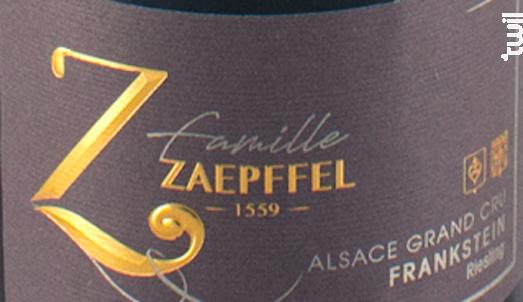 Riesling Grand Cru Frankstein - Famille Zaepffel - 2018 - Blanc