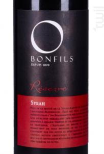 Réserve O Syrah - Vignobles Bonfils - Réserve - 2017 - Rouge