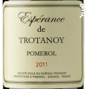 Espérance de Trotanoy - Château Trotanoy - 2014 - Rouge
