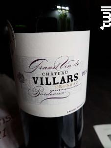 Château Villars - Château Villars - 2014 - Rouge