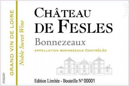 BONNEZEAUX - Château de Fesles - 2001 - Blanc