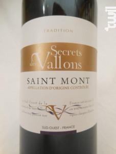 Secret des Vallons - Vignoble de Gascogne - 2000 - Rouge