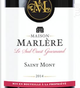 Saint Mont Rouge - Maison Marlère - 2016 - Rouge