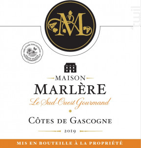 Côtes de Gascogne - Maison Marlère - 2019 - Blanc
