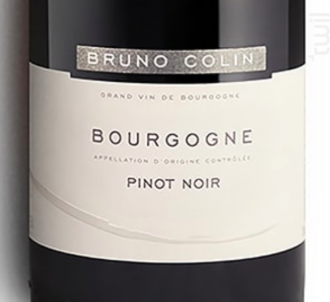 BOURGOGNE PINOT NOIR - Domaine Bruno Colin - 2016 - Rouge