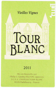 Vieilles vignes - Château Tour Blanc - 2011 - Blanc