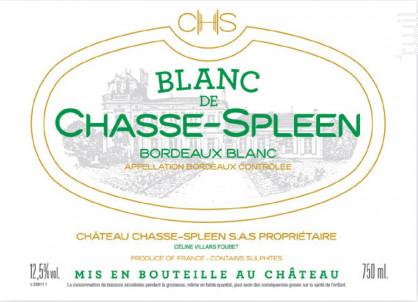 Blanc de Chasse-Spleen - Château Chasse-Spleen - 2017 - Blanc