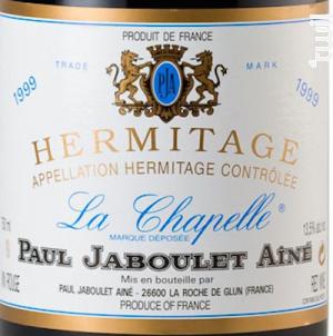 La Chapelle - Paul Jaboulet Aîné - 1999 - Rouge