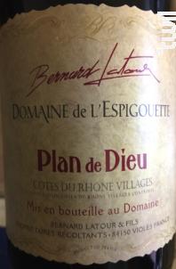 Plan de Dieu - Domaine De L'Espigouette - 2016 - Rouge
