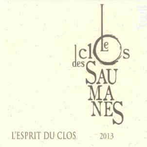 L'Esprit du Clos - Le Clos des Saumanes - 2017 - Blanc