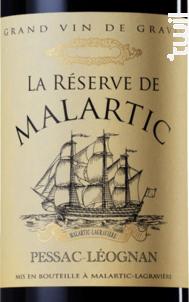 La Réserve de Malartic - Château Malartic-Lagravière - 2014 - Rouge